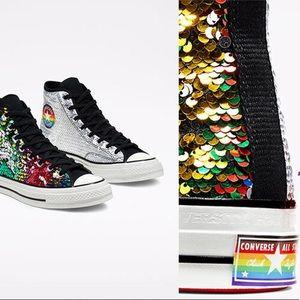 Converse Chuck 70 Pride Sneaker Sequin Hi Tops 🌈